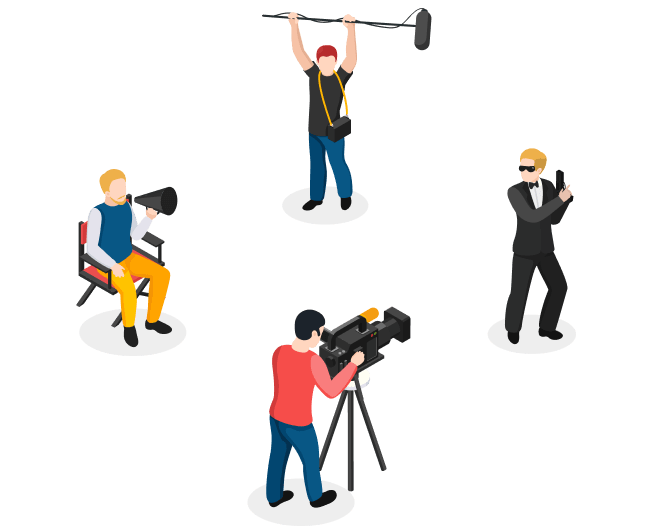 日本最大級の7,000名のプロ動画クリエイターのデータベースより最適な人材をご提案