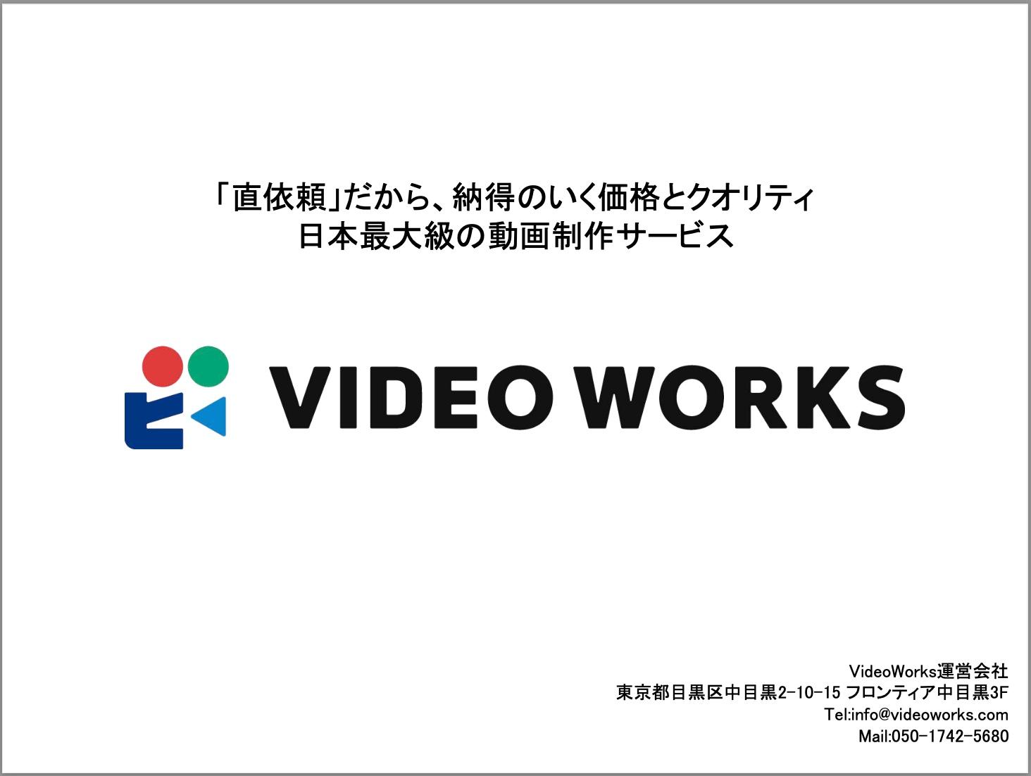 VideoWorksサービス概要資料